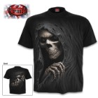Grim Reaper Black T-Shirt - Top Quality 100 Percent Cotton Jersey, Original Artwork, Azo-Free Reactive Dyes