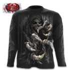 Death Claws Black Long-Sleeve T-Shirt – Top Quality 100 Percent Cotton, Original Artwork, Azo-Free Reactive Dyes