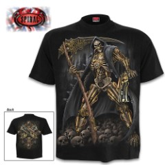 Steampunk Skeleton Black T-Shirt – Top Quality Cotton Jersey Material, Azo-Free Reactive Dyes, Original Artwork