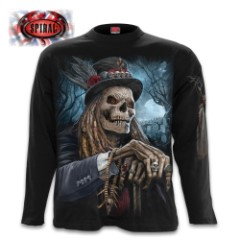 Voodoo Catcher Black Long-Sleeve T-Shirt - Top Quality 100 Percent Cotton, Original Artwork, Azo-Free Reactive Dyes