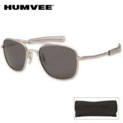 Aviator Pilot Sunglasses 52mm Polarized Silver