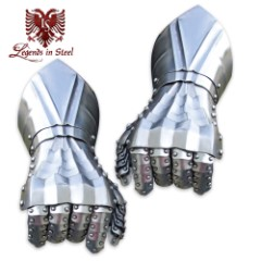 Legends in Steel Bolted Steel Gauntlets Hand Armor