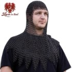 Legends in Steel Middle Ages Black Chainmail Coif