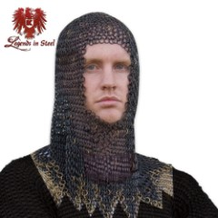 Legends in Steel Black Chainmail armor hood