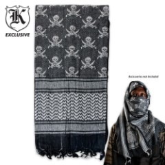 Pirate Jolly Roger Desert Scarf Tactical Shemagh Mask