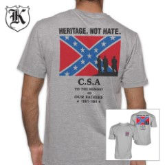 Heritage Not Hate CSA Confederate Rebel Flag T-Shirt