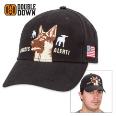 Double Down Always Alert Sheepdog Cotton Twill Cap – Available in Brown or Black
