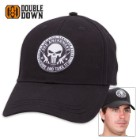 Double Down Second Amendment Punisher Cap - Black Cotton Twill
