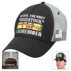 "Double Down ""Only 'Woodstock' I Remember"" Vietnam Vet Trucker Cap"
