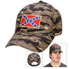 Double Down Rebel Flag Camo Cap – Hat