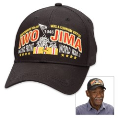 Double Down Black Iwo Jima Cap - Hat