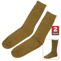 Olive Drab Bamboo Crew Socks -Moisture-Wicking, Odor-Resistant –  Natural Softness - Two Pairs