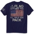 Help You Pack Navy Range T-Shirt