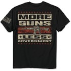 More Guns Less Government Black Range T-Shirt
