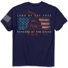 Land Of The Free Men's Navy T-Shirt
