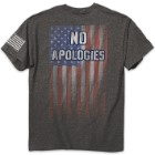 No Apologies Men's Charcoal Heather T-Shirt