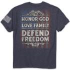 Defend Freedom Men's Navy Heather T-Shirt