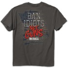 Buckwear Ban Idiots Not Guns Charcoal T-Shirt
