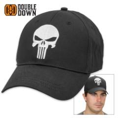 Black Legion Classic Punisher Skull Black Cotton Twill Cap
