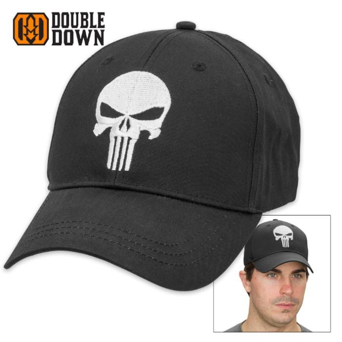 8207e5ca731 Black Legion Classic Punisher Skull Black Cotton Twill Cap
