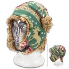Moose Toboggan Knit Hat