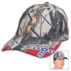 Camo Rebel Flag Hat
