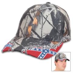 Camo Rebel Flag Hat