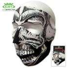 Black And White Skull Neoprene Face Mask