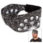 Skull Wire Explosion Chop Top Doo Wrap – Bandana Material, Terrycloth Sweatband, Double-Sided Tail, Hook And Loop Closure