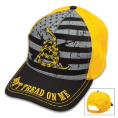 US Don't Tread On Me Cap – Five-Panel Hat, Color Screen Print And Embroidered Artwork, Snapback Closure