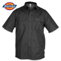 Dickies Ventilated Ripstop Short Sleeve Tactical Shirt - Black