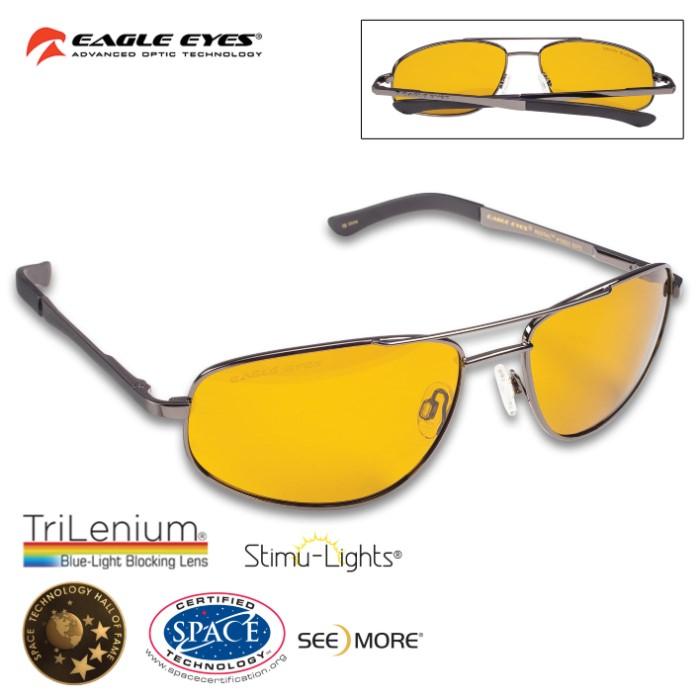 8493990bc24 Eagle Eyes Redtail Aviator Sunglasses – NASA Optic Technology