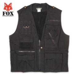 Fox Photo Safari Vest Black