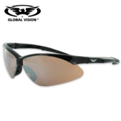 Global Vision Fast Freddie Safety Driving Sunglasses - Smoke