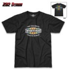 Vietnam Veterans Time Served Black T-Shirt - 100 Percent Cotton, Athletic Fit, Tagless, Screen-Printed Original Artwork