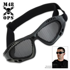 M48 Gear Military Tactical Mesh Goggles Black