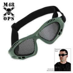 M48 Gear Military Tactical Mesh Goggles Green