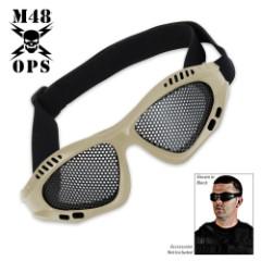 M48 Gear Military Tactical Mesh Goggles Tan