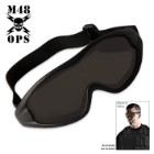 M48 Gear Military Tactical Anti Fog Shatterproof Goggles Black
