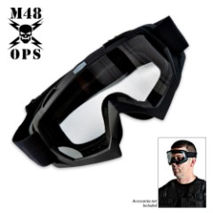 M48 Gear Black Tactical Military Safety Goggles