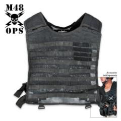 M48 Gear MOLLE Compatible Tactical Vest Black