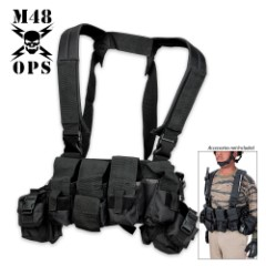 M48 Gear Tactical Bellyband Vest Black