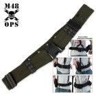 M48 OPS Pistol Belt  Green