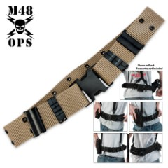 M48 OPS Pistol Belt Tan