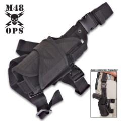 M48 Gear Tactical Tornado Leg Holster Black