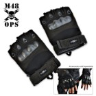 M48 Gear - XL - Tactical Law Enforcement Half Finger Glove Black