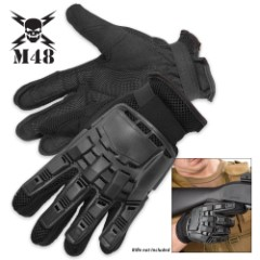M48 Gear Law Enforcement Full-Finger Gloves - Black