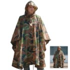 Mil-Tec Woodland Camo Ripstop Wet Weather Poncho