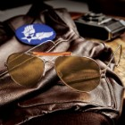 Rothco Aviator Brown Sunglasses With Case – 58MM UV Acrylic Lens, Genuine Pilot Design, Curved Flexible Earpieces