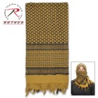 Rotcho Desert Shemagh – Tactical Desert Scarf, 100 Percent Woven Cotton, Breathable, Heat And Cold Protection - Coyote Brown
